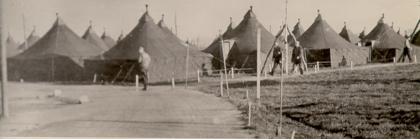 The tents that made up the POW camp