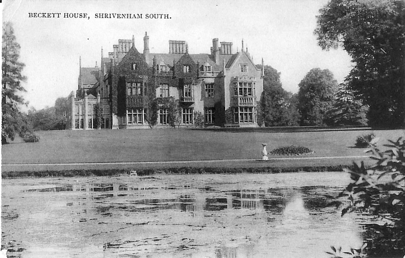 A photo from 1910. The marquee was erected here between Beckett House and the lake. Photo courtesy of Paul Williams
