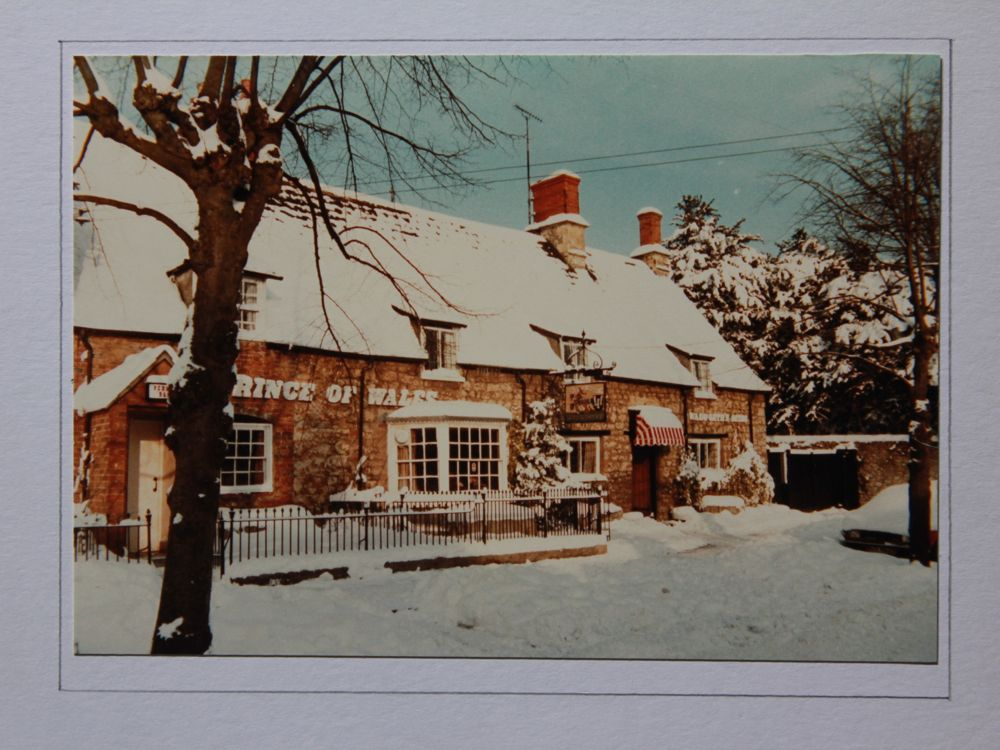 Prince of Wales Pub in the snow