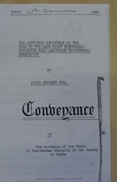 front page of conveyance document