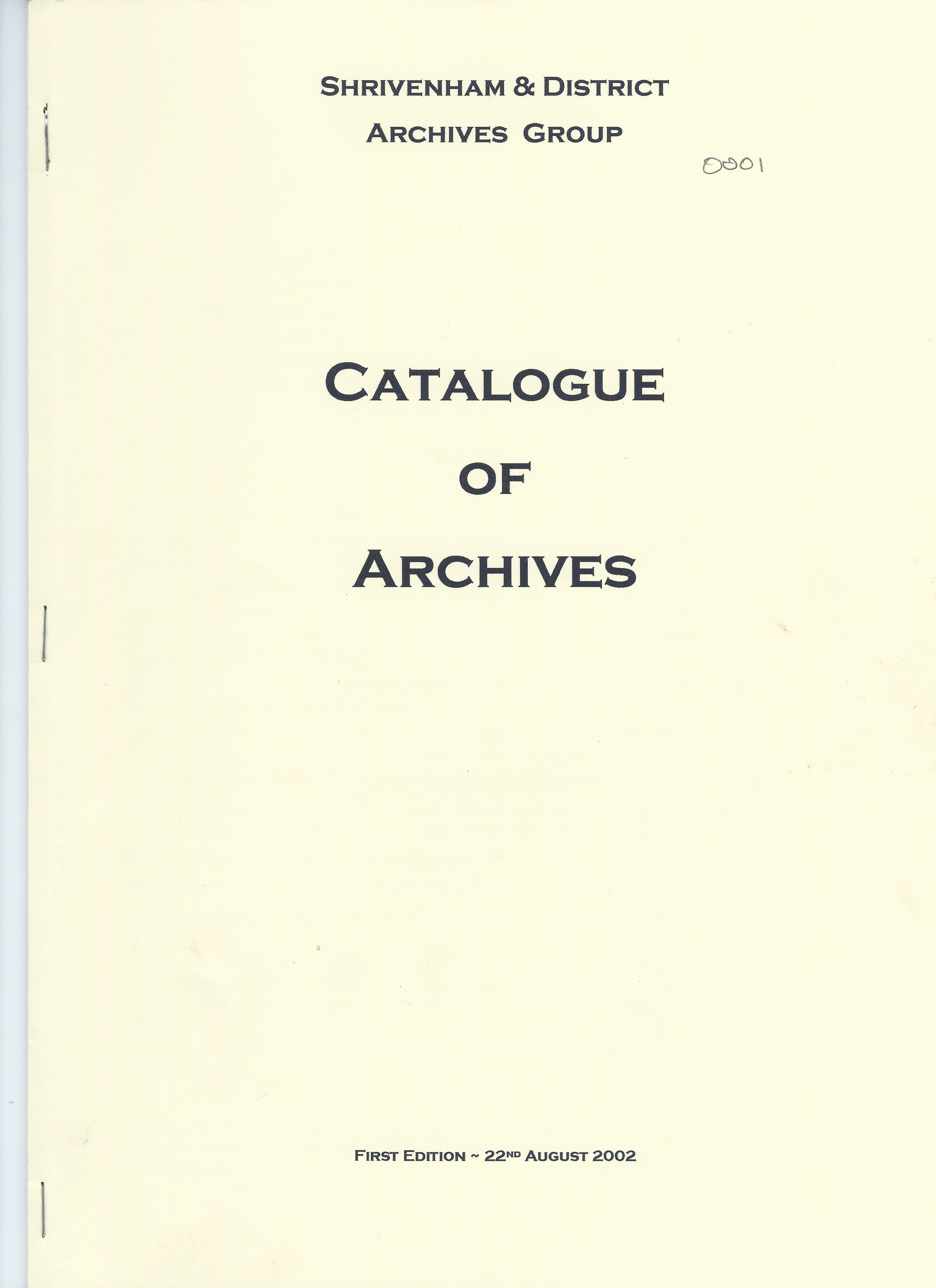 Catalogue front cover