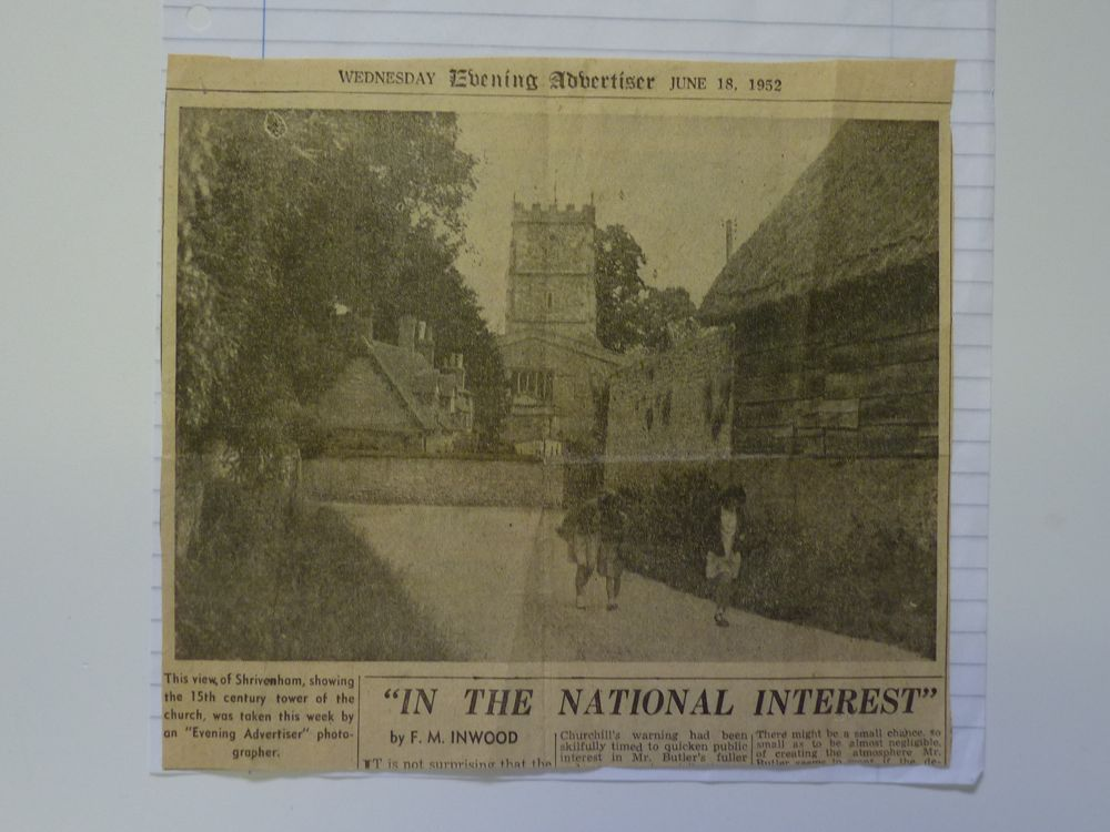 News clipping from back of the school in Manor Lane