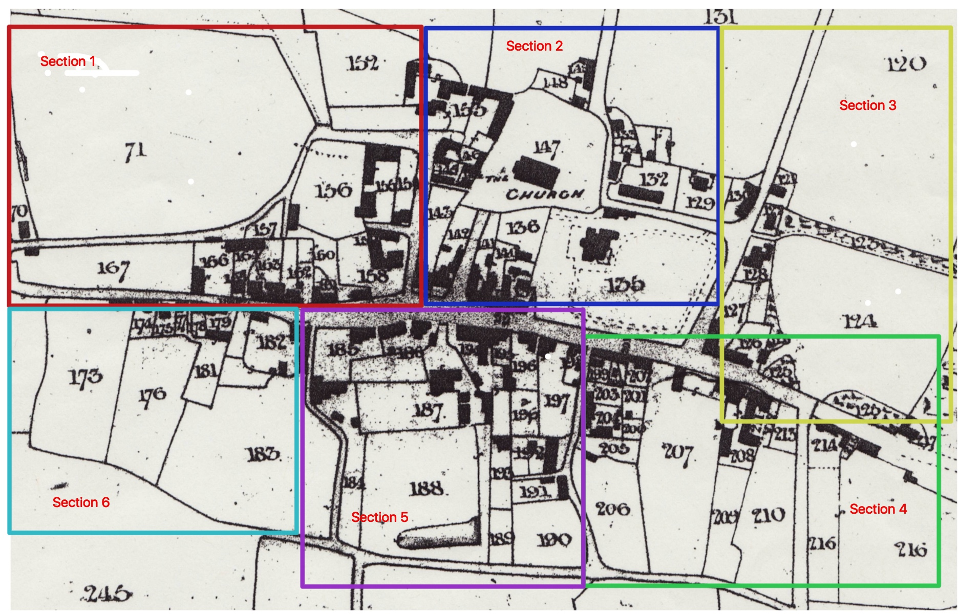 Shrivenham Village Sectioned