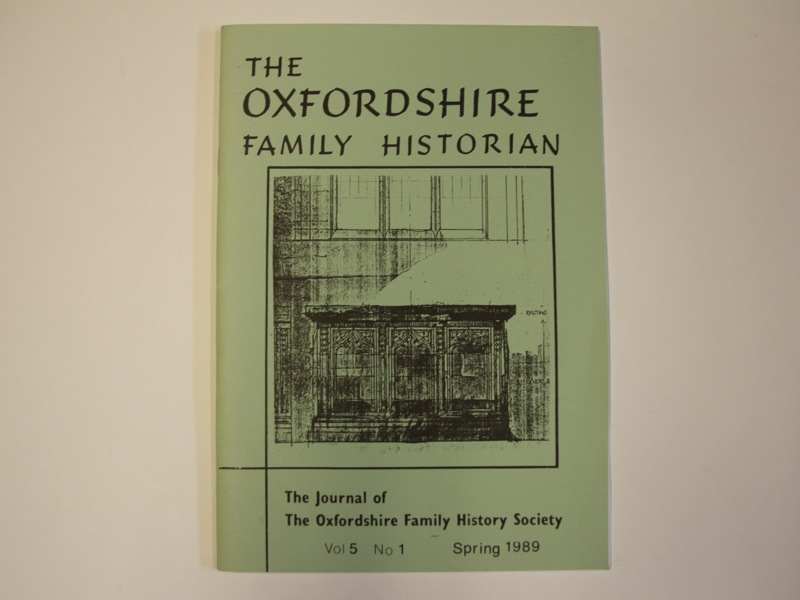 The Oxfordshire Family Historian pamphlet