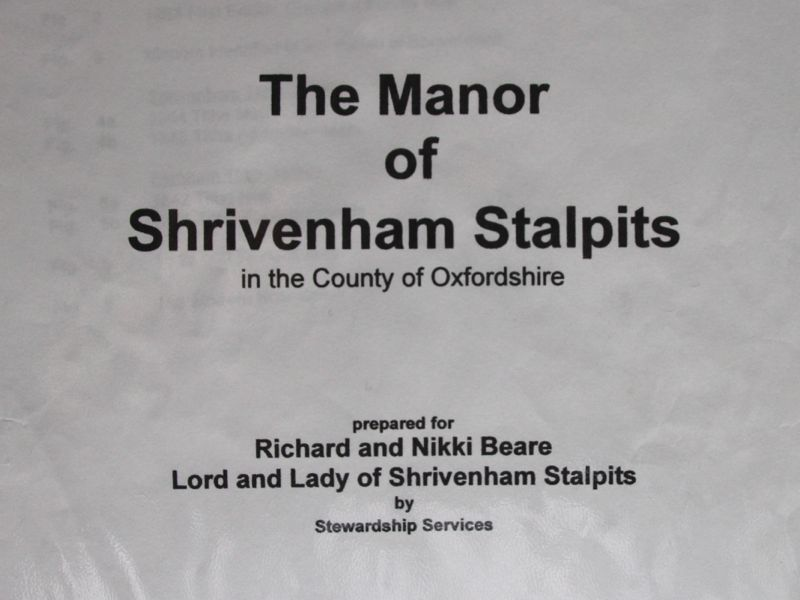 The Manor of Shrivenham Stalpits