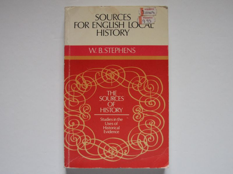 Sources of English Local History book