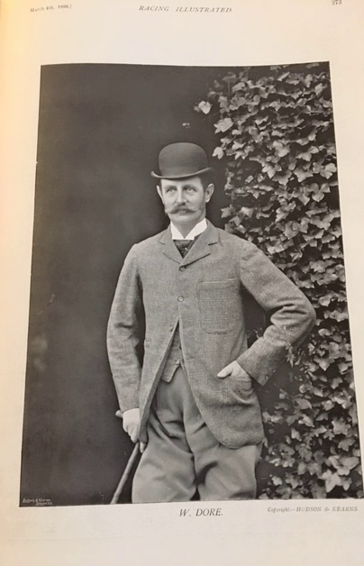 WA photo of William Dore from the Racing Illustrated magazine of 1896