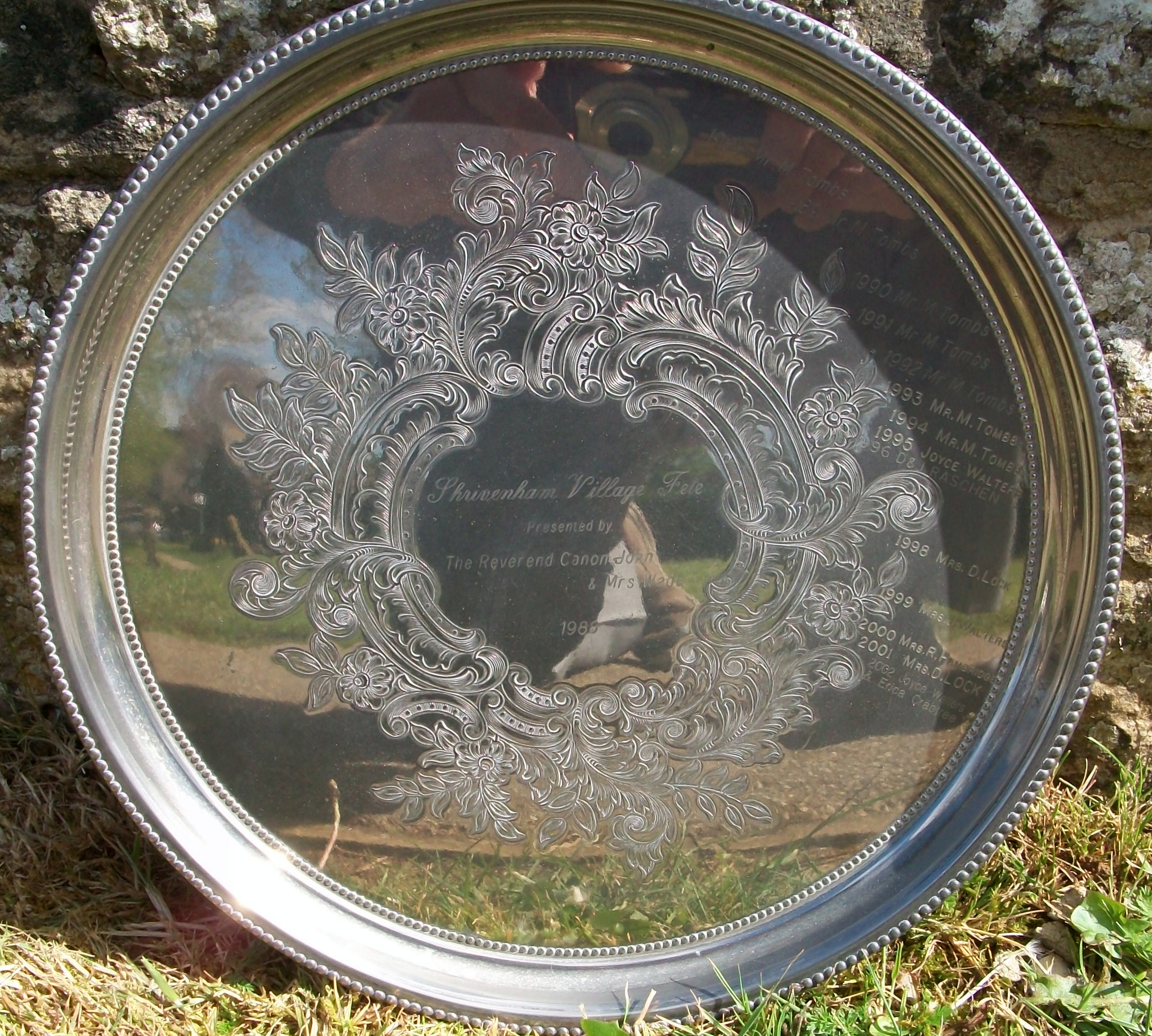 The Silver Plate donated by Rev Wade