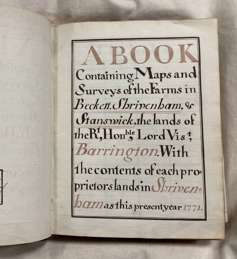 The front page of the survey book