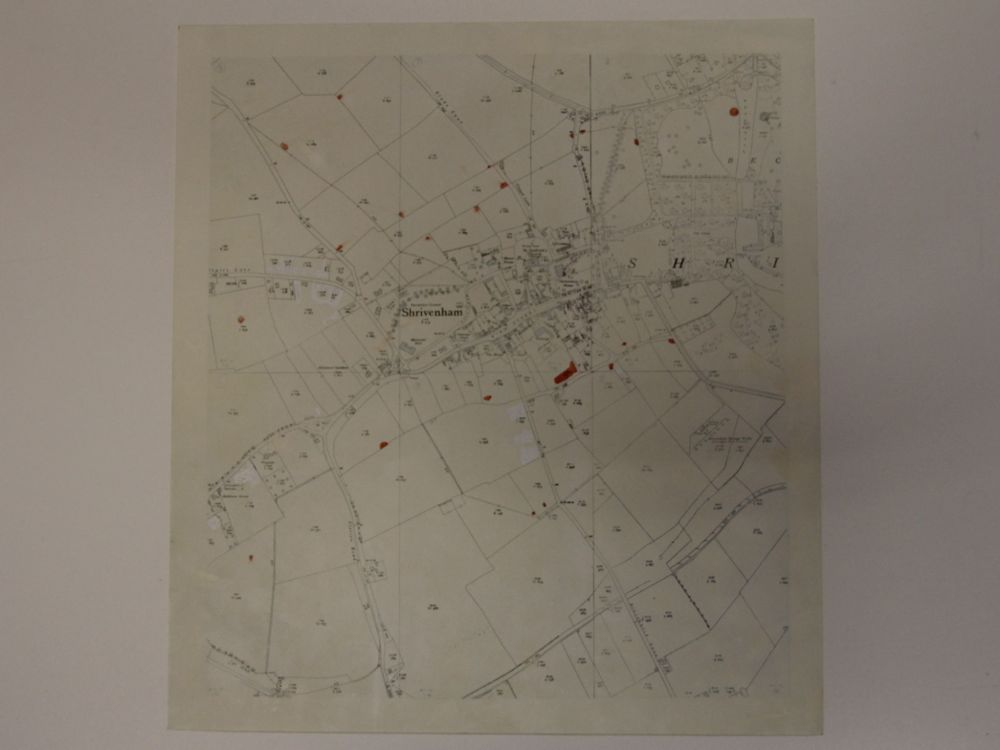 OS map about 6 inch/mile of Shrivenham dated about 1930