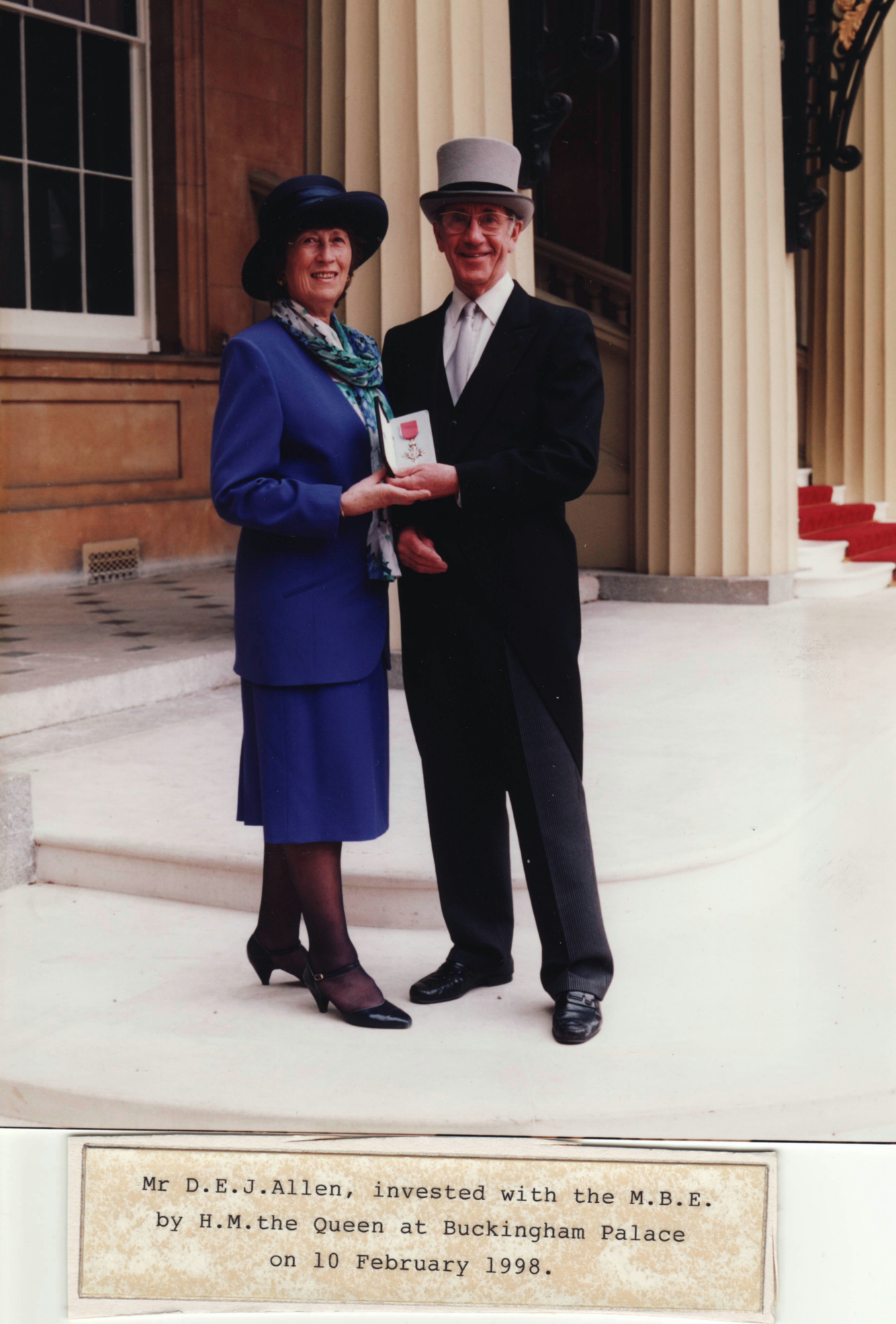 Don Allen & his wife at Buckingham Palace