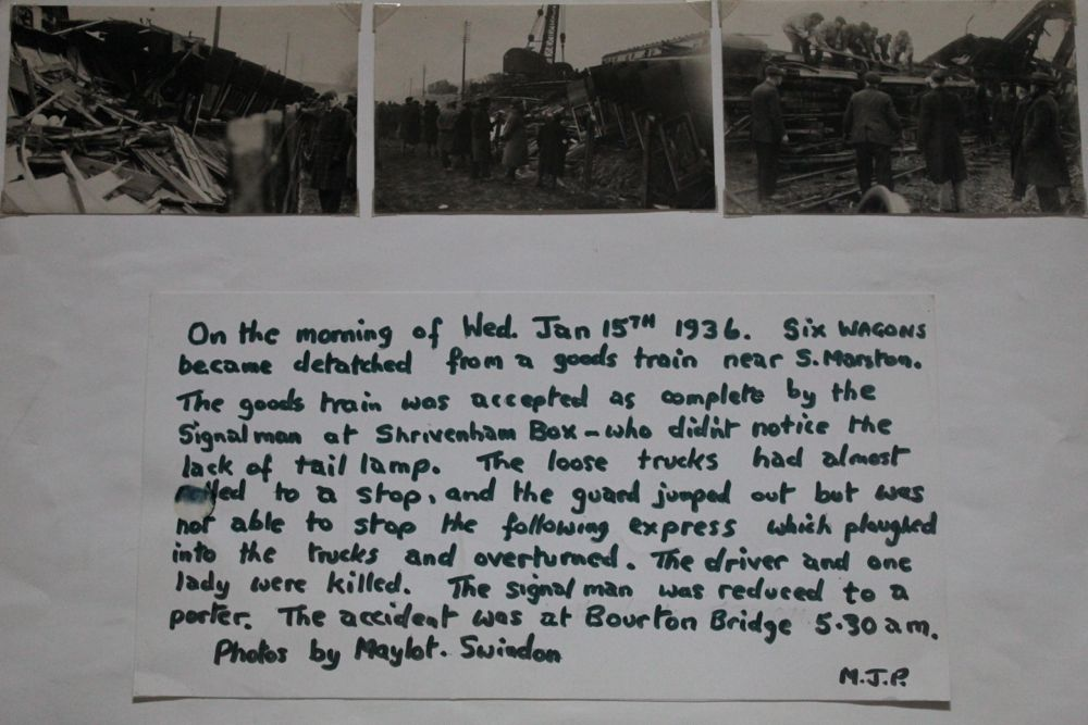 Railway Crash Accident, at Bourton Bridge at 05:30 am on 15th January 1936