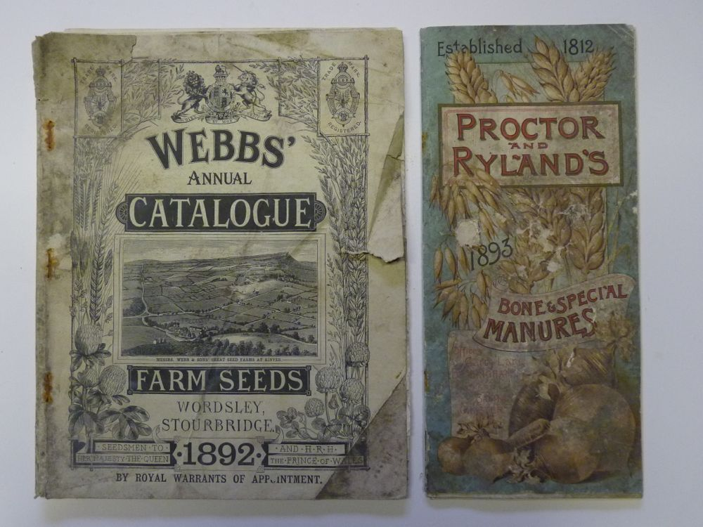 Seed and Fertiliser Catalogues for farmers 1892 and 1893