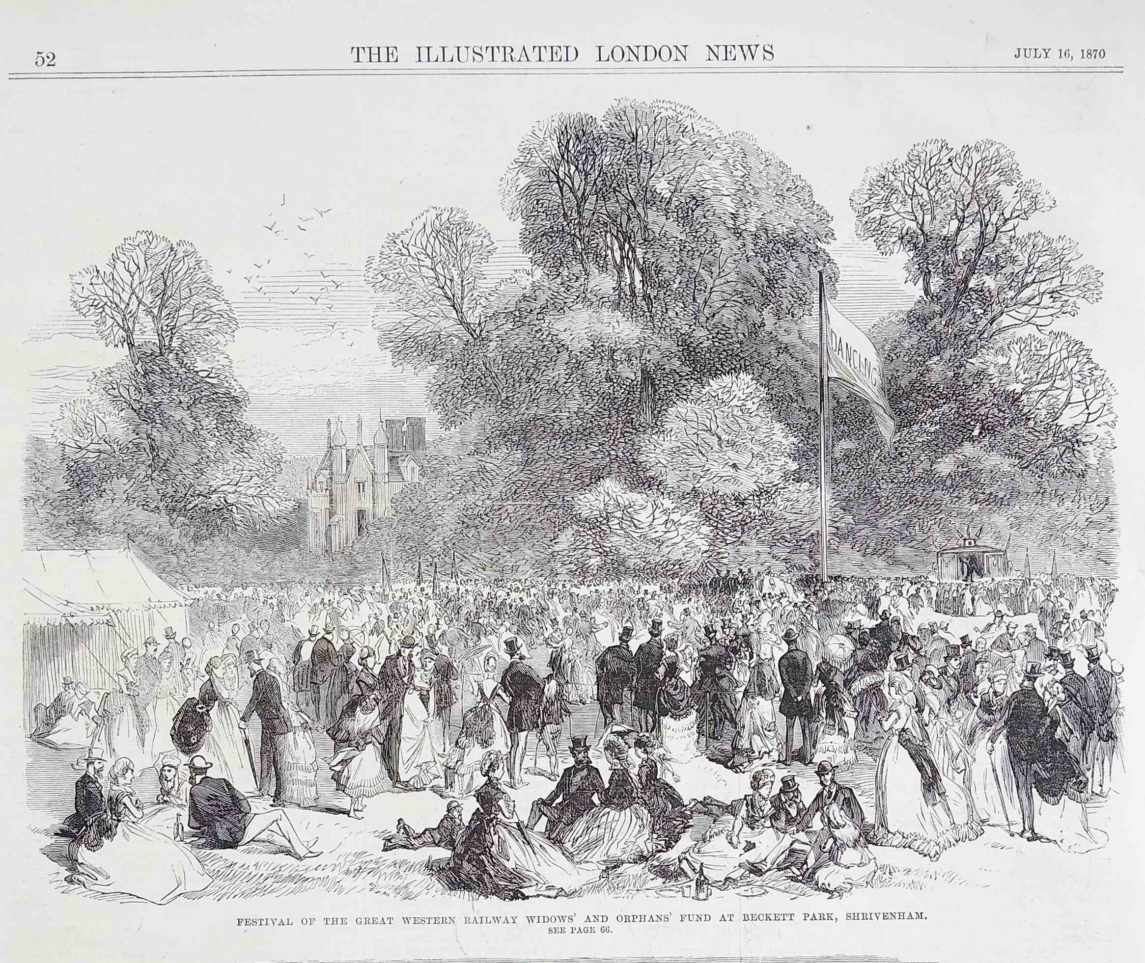 The great Fete in Beckett Park 1870
