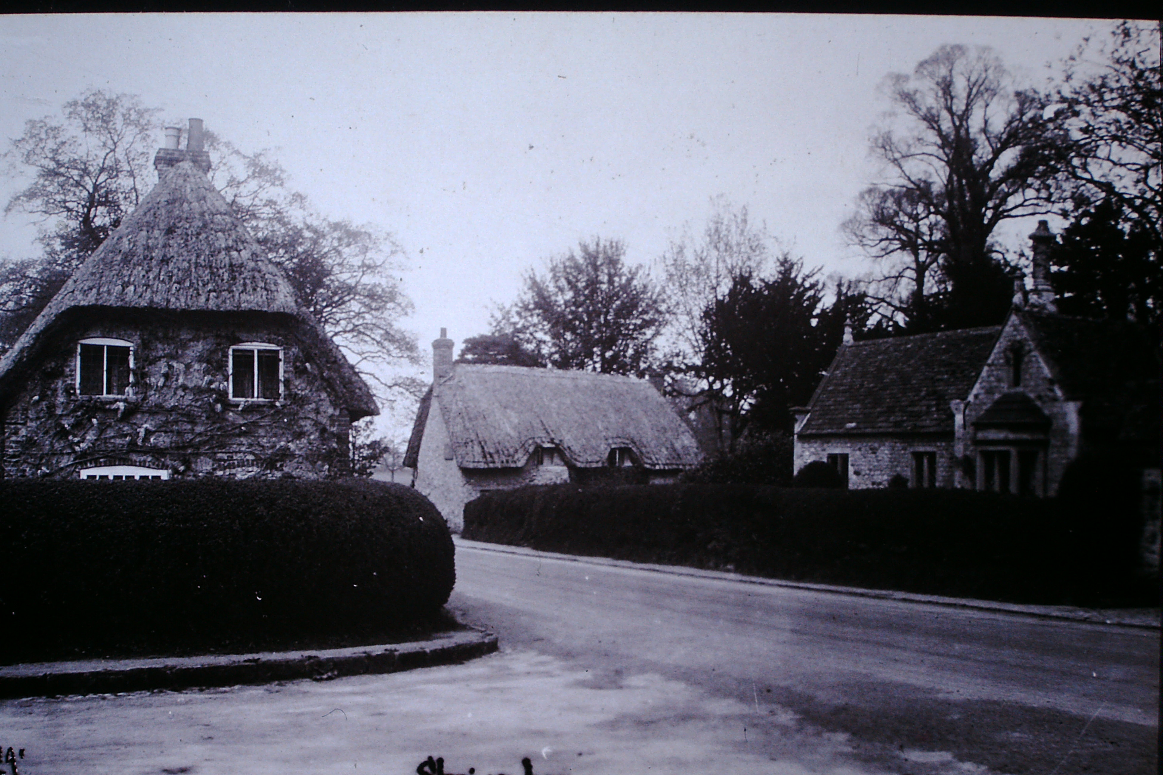 Wisteria Cottage on the left where Eve Weston was born
