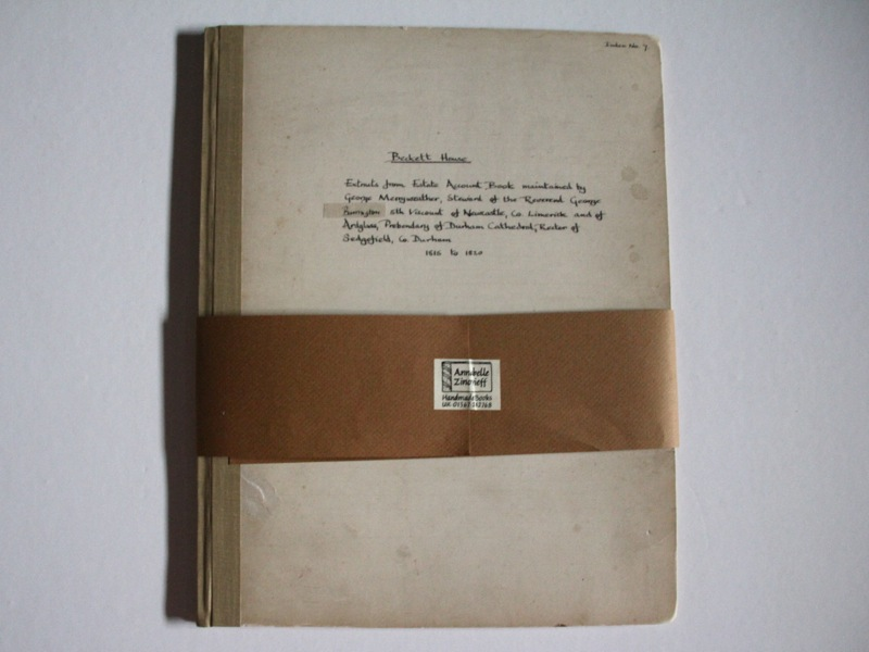 Beckett House estate account book