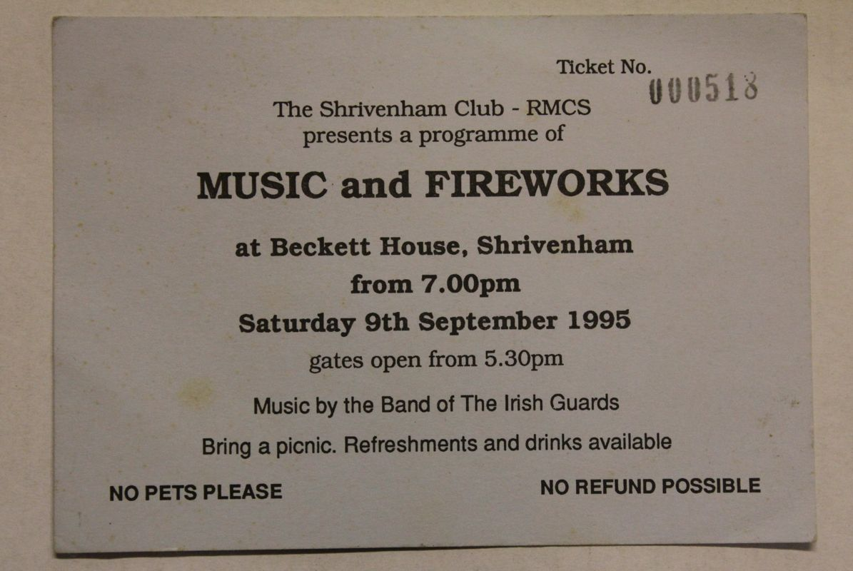 Music and Fireworks ticket 1995