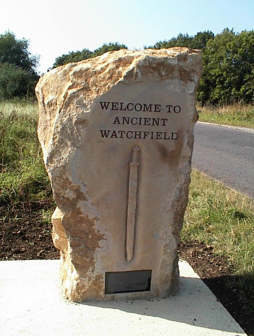 Welcome to ancient Watchfield stone & front cover picture