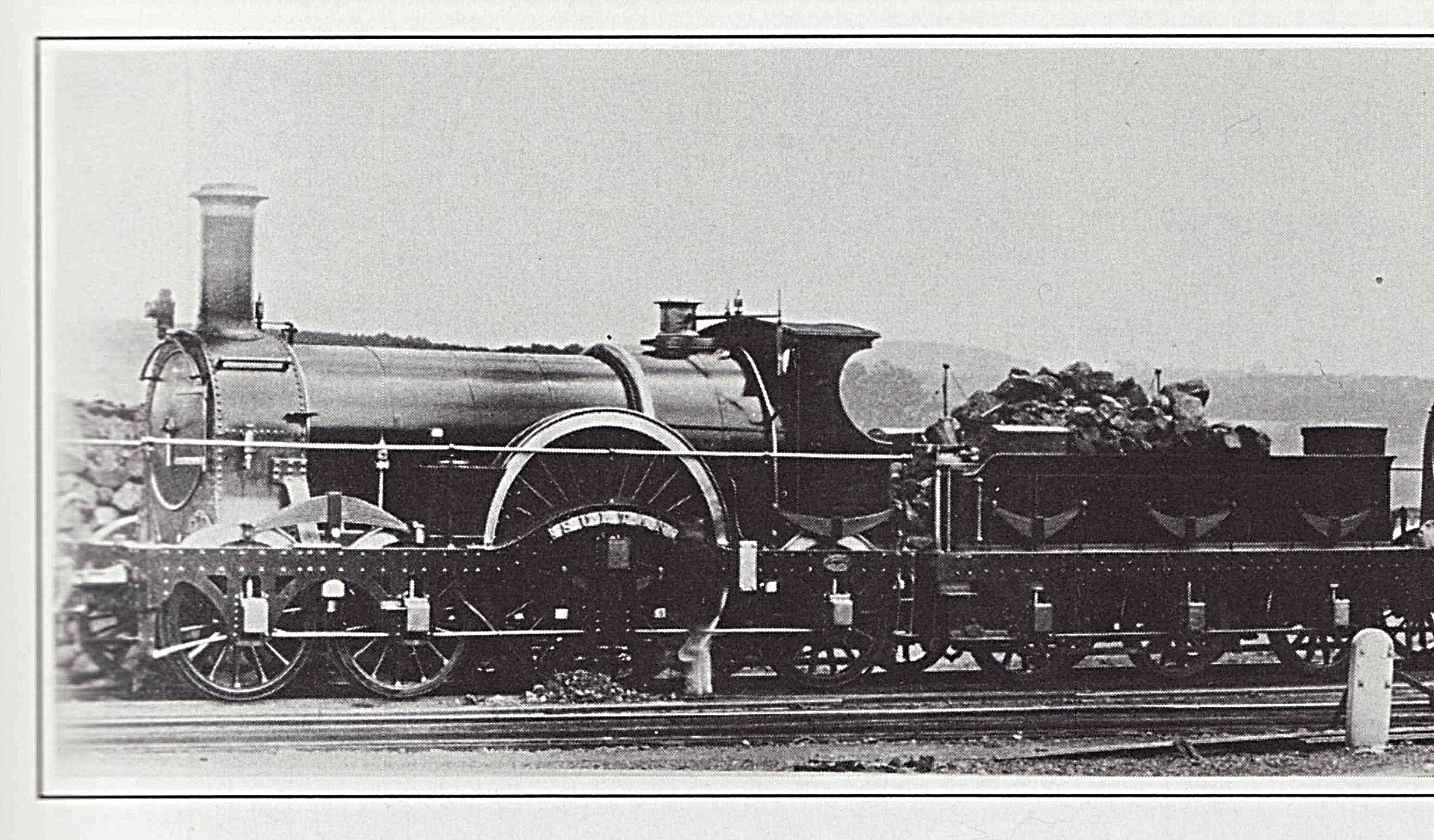 The steam locomotive called, 'Sultan.' Photo from the publication called, 'Broad Gauge' published by Wild Swan Publications