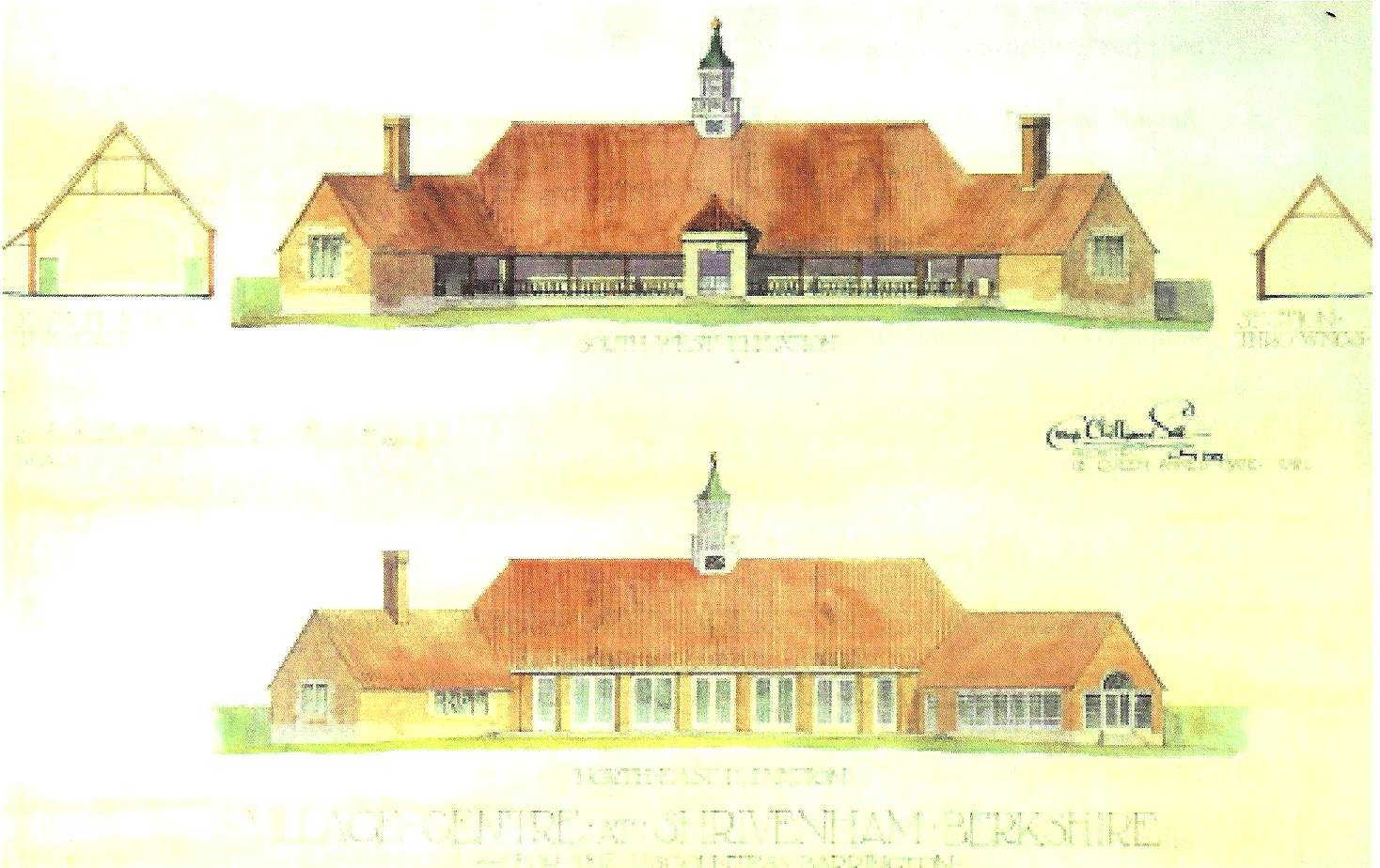 1919 Design for Village Hall by Clough Williams-Ellis.