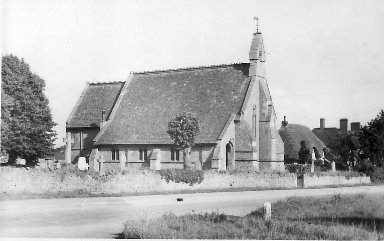 Watchfield Church in 1950. Photo courtesy of Paul Williams