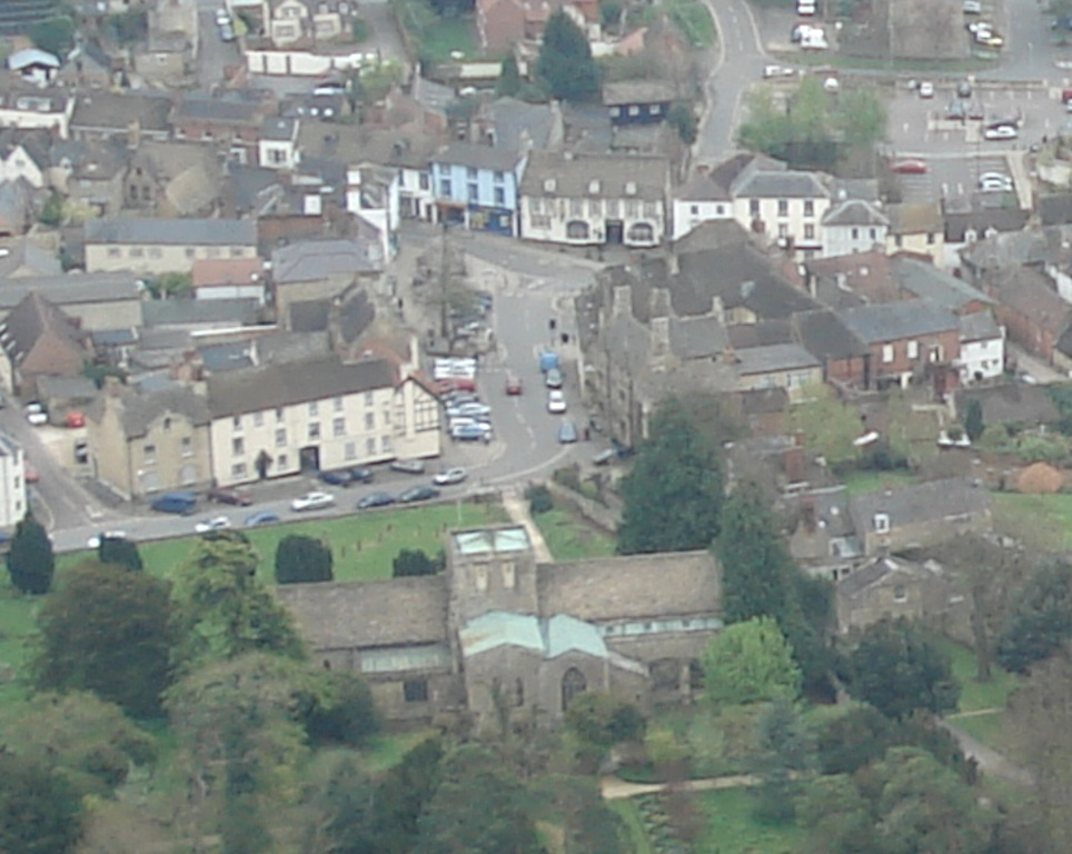 Faringdon Town Centre where much fighting took place. The church in the lower part of the picture. Photo by Neil B. Maw