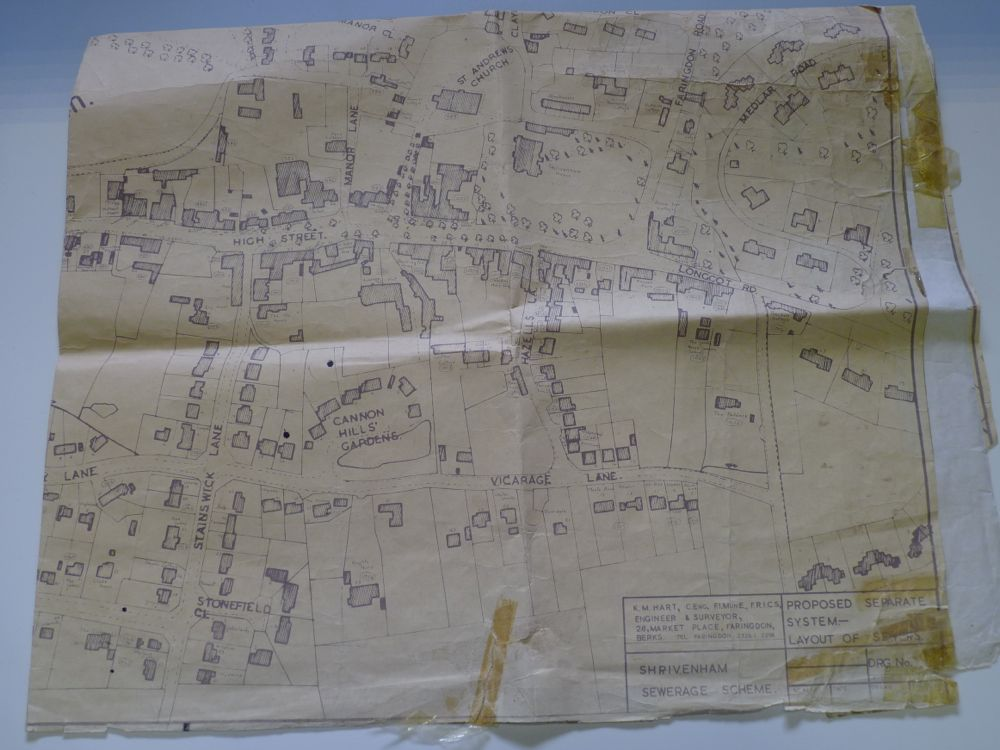Map proposed Sewer 1960