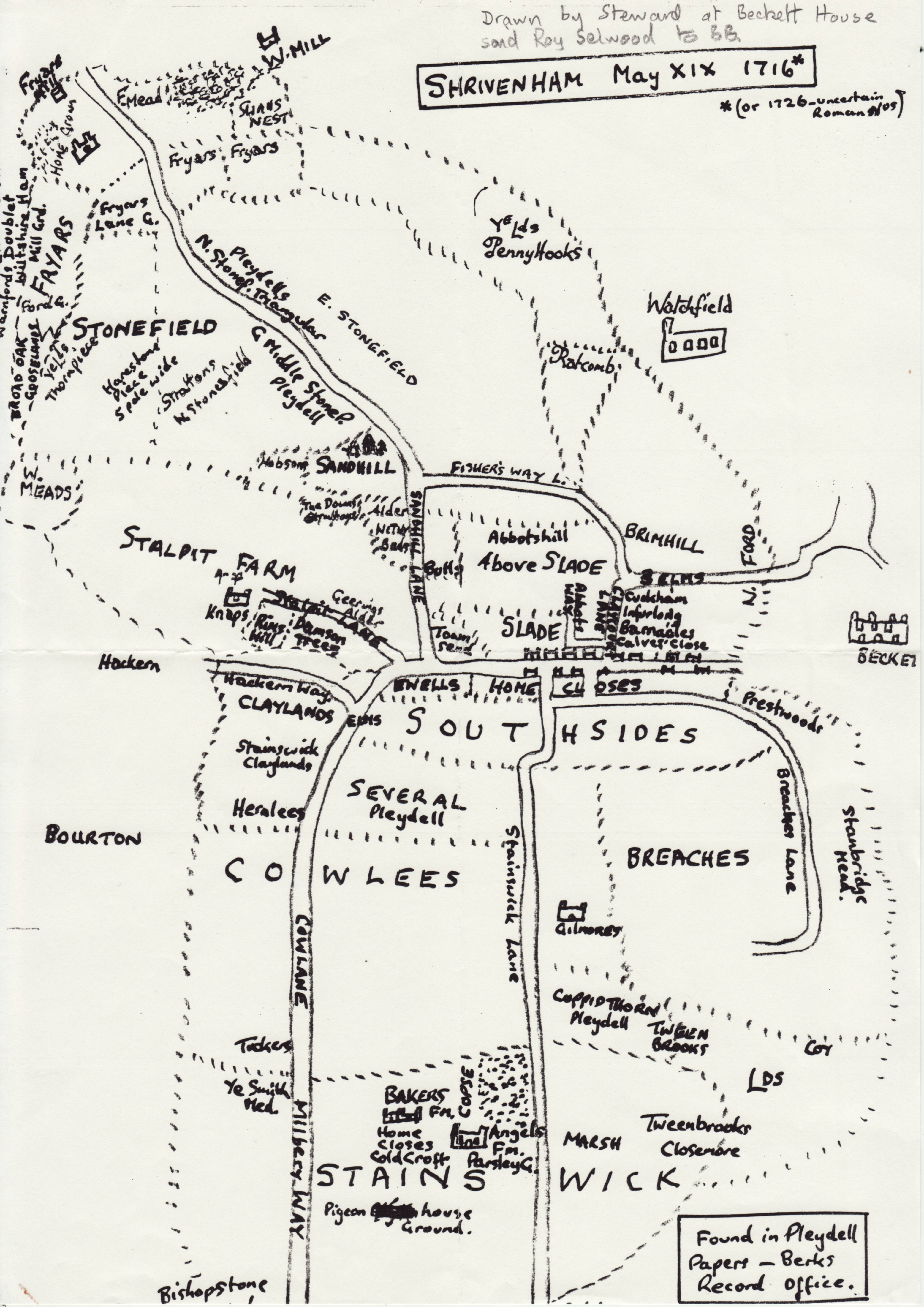 Map of Shrivenham