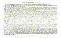 The Terms & Conditions of the Sale