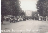 Forresters procession in the High Street, Shrivenham