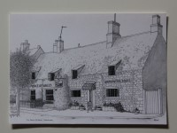 A line drawing of the pub