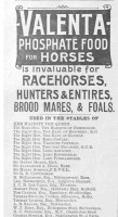 A Horse Food advert from the Illustrated Sporting & Dramatic News in Dec 1895 cite Bishopstone Stud as using their product