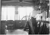Sidney Working in Ashbury Crossing Signal Box in 1930s. Photograph courtesy Julia Jones.