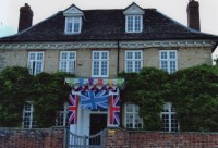 Elm Tree House suitably decorated for the Olympics. Photo courtesy of Diana Crockett