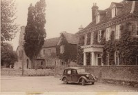 Elm Tree House & School in the background, circa 1940s