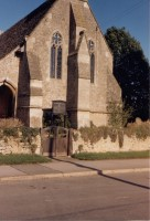 Colour photo of Watchfield Church. Photographer unknown